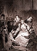 Mary Queen of Scots' execution, 19th century illustration