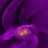 Gravitational waves, illustration