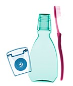 Oral hygiene items, X-ray