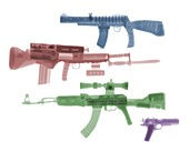 Toy plastic guns, X-ray
