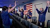 Mars 2020 team celebrating landing