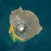 Anak Krakatau volcano, Indonesia, satellite image