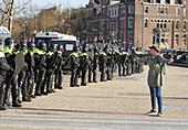 Anti-lockdown protest, Amsterdam, Netherlands