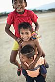 Wayuu indigenous children, Colombia