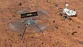 Ingenuity Rotorcraft on Mars