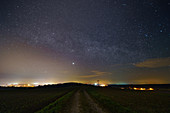 Light pollution from city