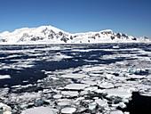 Broken sea ice, Antarctica