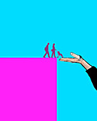 Helping hand, conceptual illustration