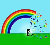 Shattered rainbow, illustration