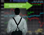 Stock market trader, illustration