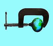 Earth in crisis, illustration