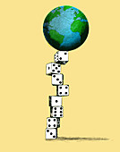 Climate risk, conceptual illustration