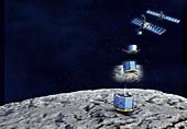 Rosetta spacecraft and Philae lander, illustration