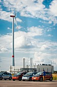 BMW i3 electric cars Leipzig car plant, Germany