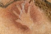 Replica hand painting, Caverne du Pont d'Arc, France