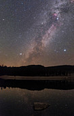Summer triangle and Milky Way