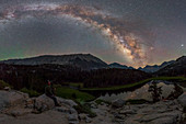 Milky Way over a mountain lake