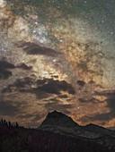 Milky Way over Sierra Nevada, USA