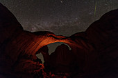 Meteor over Arches National Park, Utah, USA