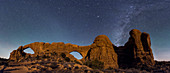 Milky Way over Arches National Park, Utah, USA