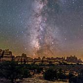 Milky Way over Canyonlands National Park, Utah, USA
