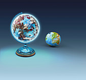 Spare planet, conceptual illustration