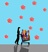 Shopping during Covid-19 pandemic, illustration
