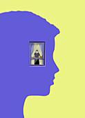 Mental health during pandemic, illustration