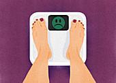 Dieting, conceptual illustration