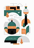 Berlin, conceptual illustration