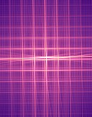 Rotating fractal lattice illustration.