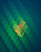 3-dimensional ripples abstract image.