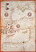 Map of the Eastern Mediterranean, 1590