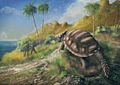 Dwarf horned turtle, illustration