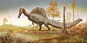 Spinosaurus dinosaur, illustration