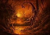 Pulmonoscorpius giant scorpion, illustration