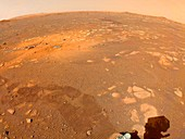 Perseverance rover marks on surface of Mars