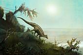 Scelidosaurus dinosaur, illustration