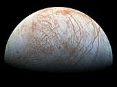 Jupiter's moon Europa, Galileo image