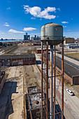 Water tower, Detroit, Michigan, USA