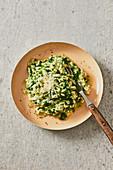 Creamy spinach risotto
