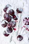 Chocolate chunk and raspberry cookies