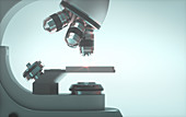 Light microscope, illustration