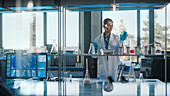 Team of scientists working in a laboratory