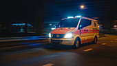 Ambulance driving with light on