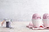 Lavender ice cream