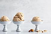 Vegan almond ice cream