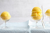 Vegan mango sorbet