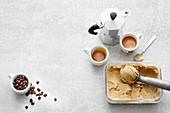 Vegan espresso ice cream