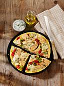 Paprika-Lachs-Omelett